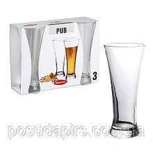 Набор стаканов для пива (3 шт.) 300 мл Pub 42199