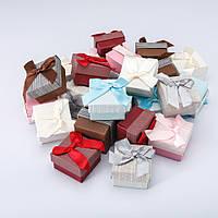 Подарочные коробочки для колец. Коробочка подарочная для украшений 24шт 5/5/4 см №1-35