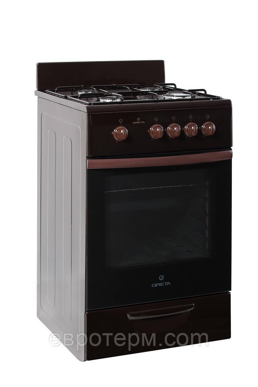Газовая плита GRETA 1470-00-12 BM коричневая