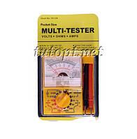 Мультиметр стрелочный YX-128, типы измерения - DCV, ACV, DCA.