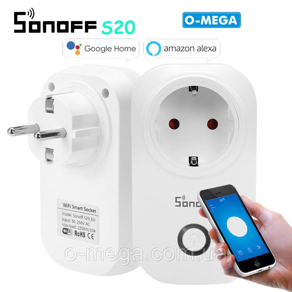 Умная wi-fi розетка Sonoff S20 с таймером