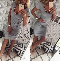 Летнее облегающее платье в спортивном стиле / вискоза / Украина 28-169, фото 1