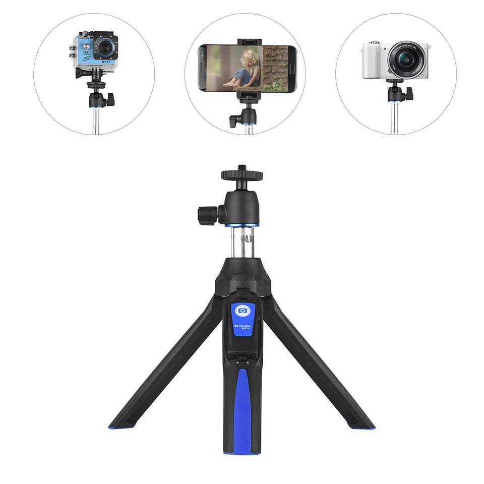 Селфи-стик, Bluetooth монопод для селфи Benro Let's go! Black-Blue. Для iPhone, Android, GoPro...