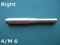 Нержавеющий наконечник с правой резьбой М6 для троса 4 мм, для леерного ограждения