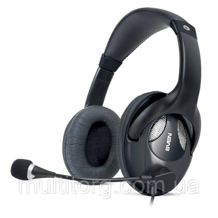 Наушники SVEN AP-670MV с микрофоном черные
