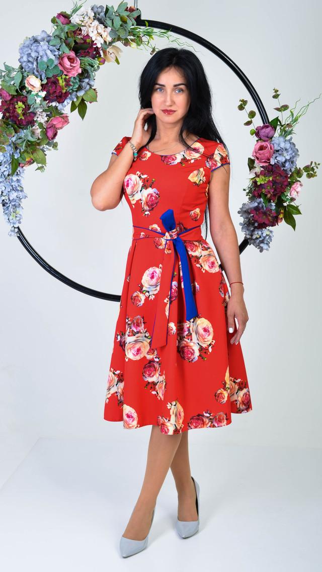 c1980aafb78 Стильное женское платье с пышной юбкой солнце клеш   продажа