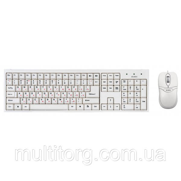 Клавиатура + мышка SVEN Standard 310 combo, USB белая