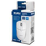 Мышка SVEN RX-112 USB белая, фото 5