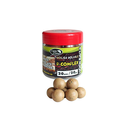 Бойлы насадочные пылящие Boilies P-Complex Soluble Hookbaits White Chocolate & Banoffee (Шоколад и Баноффи)