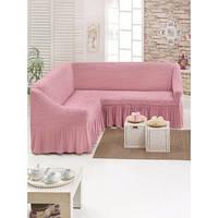 Чехол натяжной на угловой диван MILANO  светло-розовый  и еще 15 расцветок