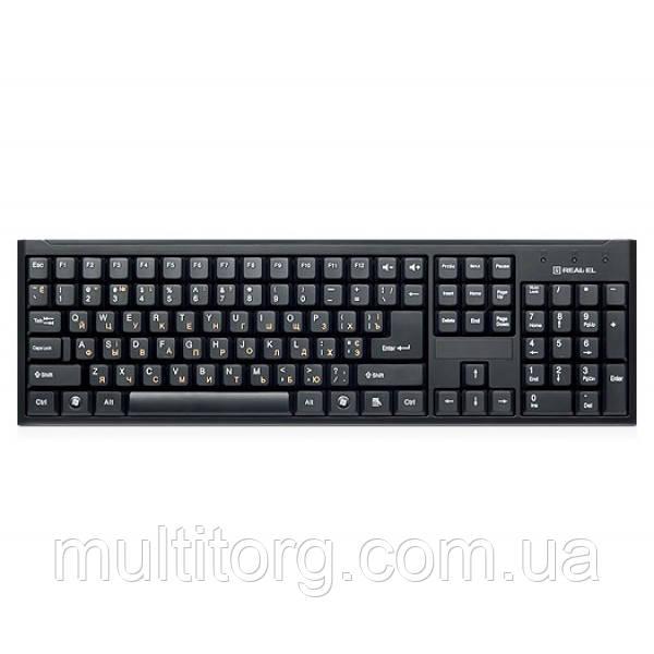 Клавіатура REAL-EL Standard 503 USB чорна