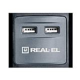 Удлинитель REAL-EL RS-5 USB CHARGE 1.8m черный, фото 3
