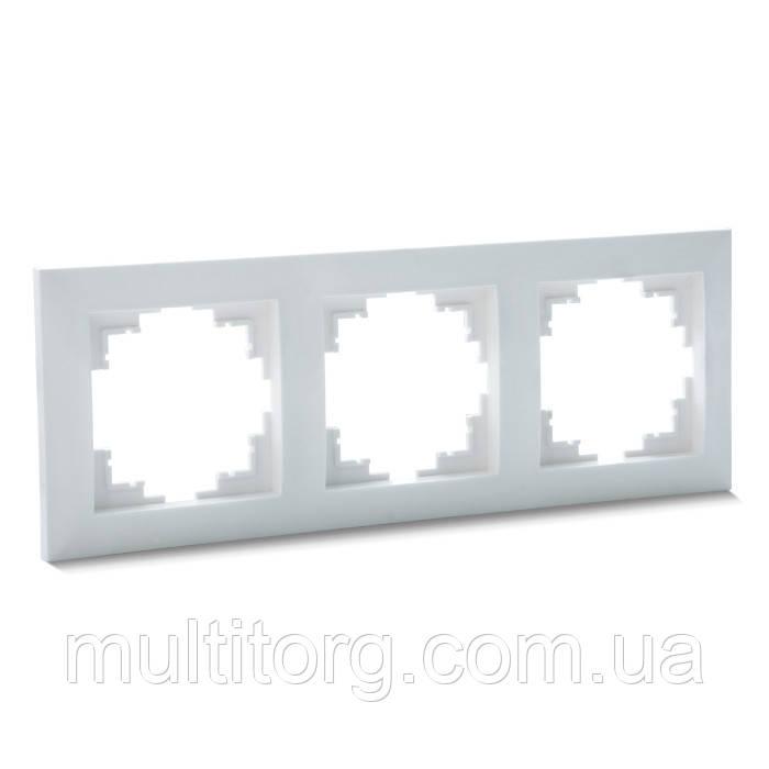 Рамка SVEN SE-60003 трехместная белая