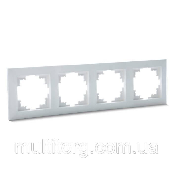 Рамка SVEN SE-60004 четырехместная белая