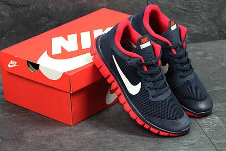 618a4af685d1 Мужские летние кроссовки Nike Free Run 3.0,темно синие с красным, фото 2