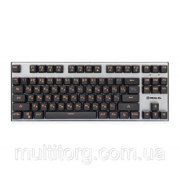 Клавиатура REAL-EL M07 USB игровая механическая