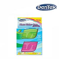 DenTek Флосс-зубочистки + Дорожный футляр: 4 футляра, 24 зубочистки, фото 1