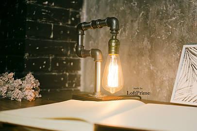 Светильник лофт из фитинга