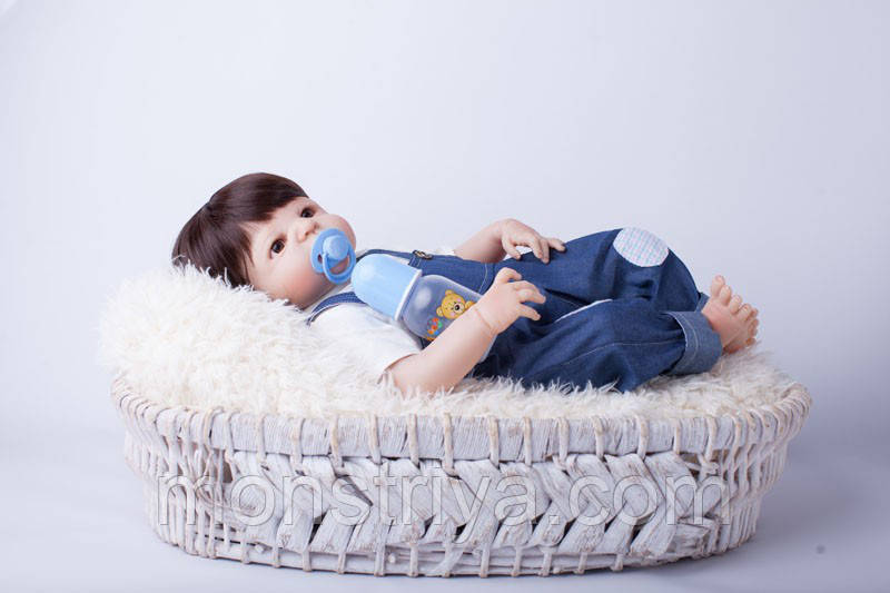Кукла-пупс реборн Малыш винил- силиконовый