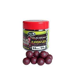 Бойлы насадочные пылящие CarpZone Boilies P-Complex Soluble Hookbaits Squid & Cranberry (Кальмар и Клюква)