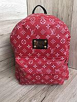 2152d2e03191 Стильный Рюкзак LV Louis Vuitton (реплика Луи Витон) Supreme red