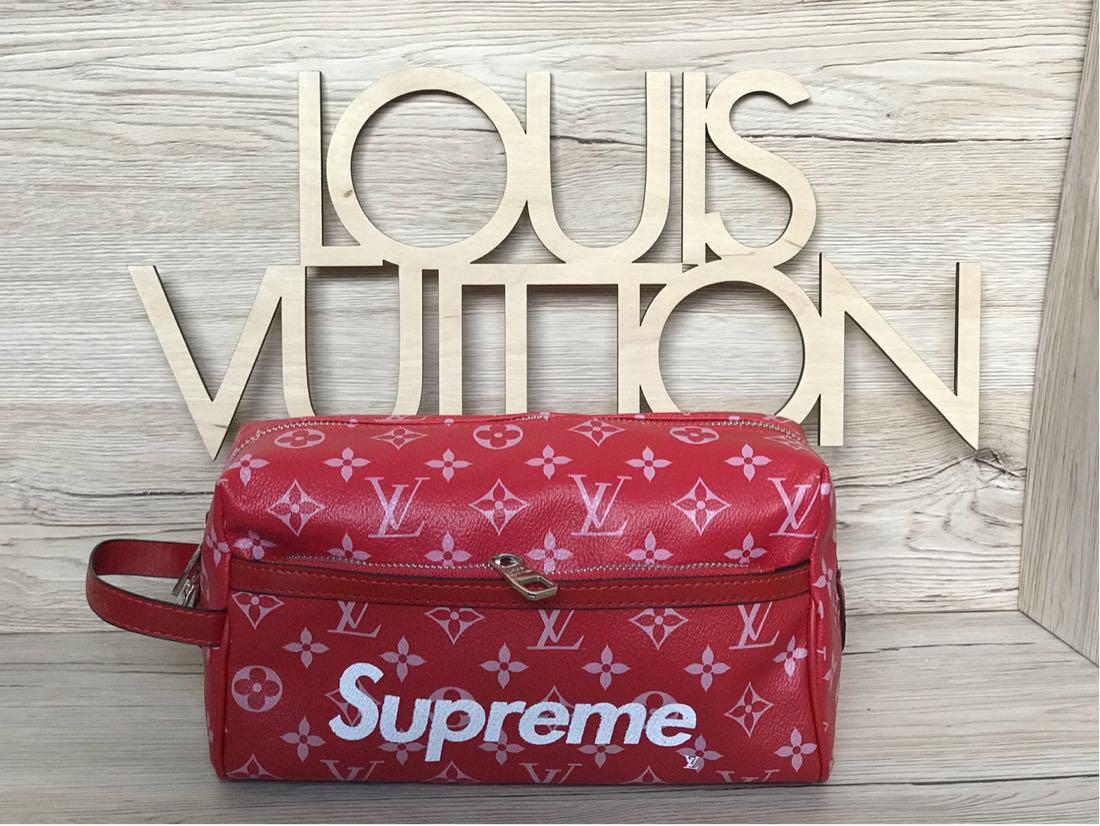 500f49199d0a Мужская барсетка Louis Vuitton LV Supreme (реплика) - Планета здоровья  интернет-магазин в