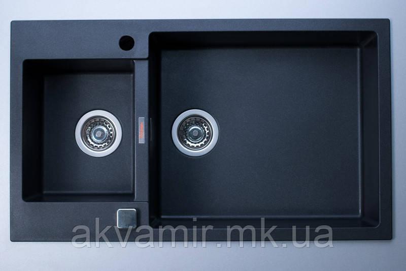 Мойка для кухни Fabiano Quadro 86x50x15 Antracit (антрацит)