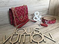 Сумка женская Louis Vuitton LV (реплика люкс) small red