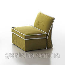 Мягкое кресло без подлокотников с контрастным кантом Pitagora фабрика ALBERTA (Италия)
