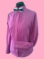 Женская блузка с длинным рукавом с бизами