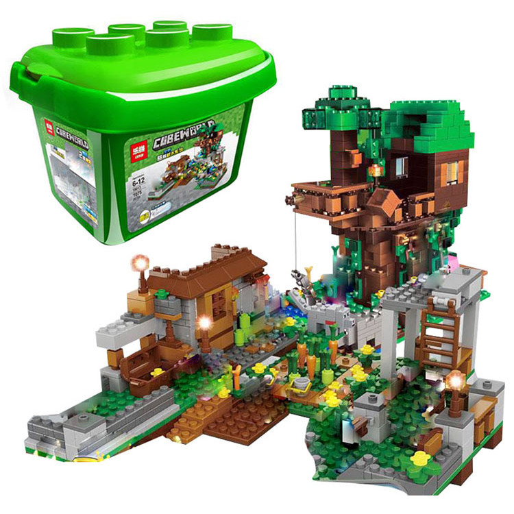 Конструктор LEPIN MINECRAFT 18031 Дом на дереве в джунглях (копия Lego