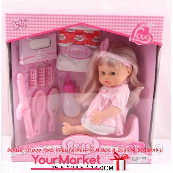 Кукла функц LD9605B (18шт/2) пьет-пис, 10аксесс(подгуз,горшок,бутыл,ра