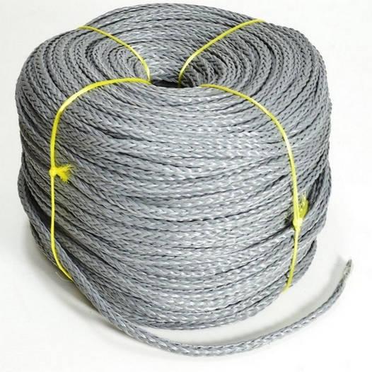 Веревка для лодок нетонущая 12мм/200м, Серая; Haida 12 grey;