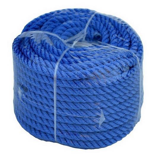 Якорная веревка 10мм/30м, Синяя;