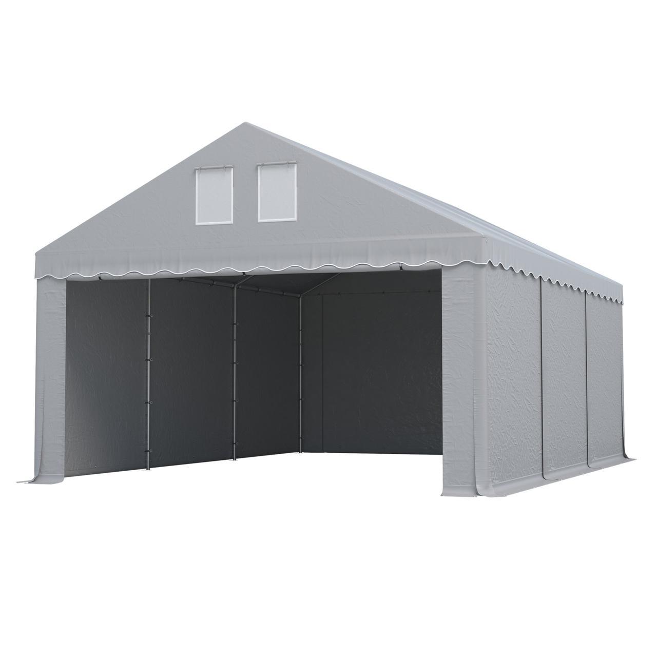 Тэнтовый гараж  COMFORT ПВХ 3 x 6м Серый