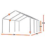 Тэнтовый гараж  COMFORT ПВХ 3 x 6м Серый, фото 3