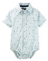 Детская боди-рубашка для мальчика 6-9, 18-24 месяца
