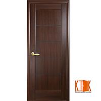 Межкомнатные двери Новый Стиль Мира Стекло сатин Каштан
