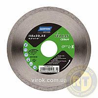 Диск алмазный VULCAN TILE по керамической плитке: Ø= 115/ 22.23 мм NORTON 70V205