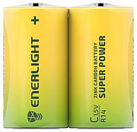 Батарейки солевые ENERLIGHT C/R14 1,5V SUPER POWER