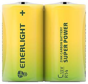 Сольові Батарейки ENERLIGHT C/R14 1,5 V SUPER POWER