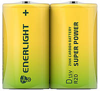 Батарейки солевые ENERLIGHT D/R20 1,5V SUPER POWER