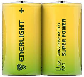 Сольові Батарейки ENERLIGHT D/R20 1,5 V SUPER POWER