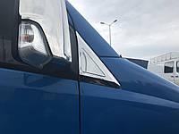 Накладки на дефлектор окон (нерж) Mercedes Sprinter 906