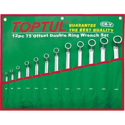 Набор накидных ключей 6-32мм (угол 75°) 12 ед., GAAA1204 TOPTUL, фото 2