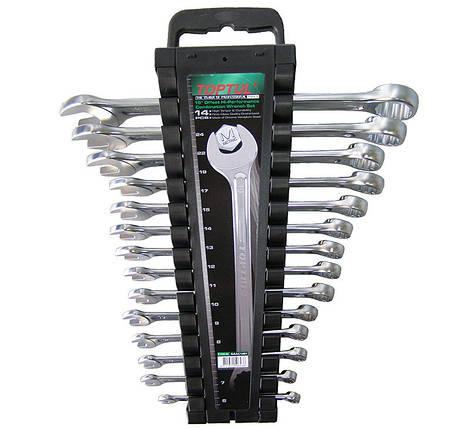 Набор ключей комбинированных на холдере 14 шт. 6-24мм, GAAC1401 TOPTUL, фото 2