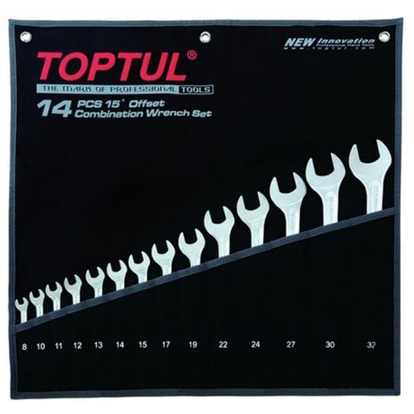 """Набор ключей комбинированных 14 шт. 8-32 """"Hi-Performance"""", GPAX1401 TOPTUL"""