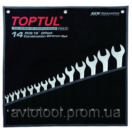 """Набор ключей комбинированных 14 шт. 8-32 """"Hi-Performance"""", GPAX1401 TOPTUL, фото 2"""