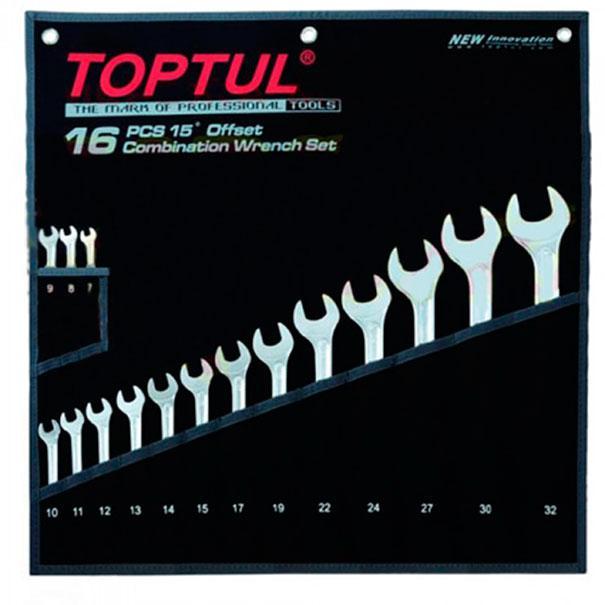 """Набор ключей комбинированных 16 шт. 7-32 """"Hi-Performance"""", GPAX1601 TOPTUL"""