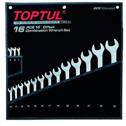 """Набор ключей комбинированных 16 шт. 7-32 """"Hi-Performance"""", GPAX1601 TOPTUL, фото 2"""